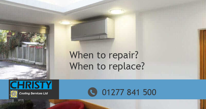 when to replace repair air conditioning